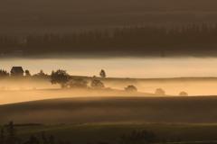 霧染まる夜明け