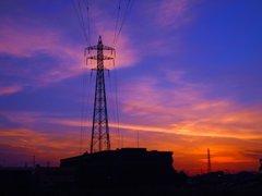 鉄塔の夜明け
