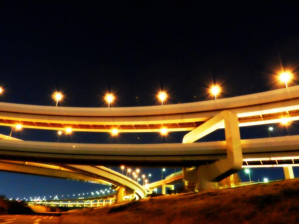 首都高速江北JC夜景