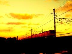 武蔵野線夕景