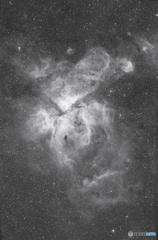 カリーナ星雲Hα決定版 総露出11時間6分