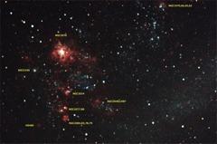 大マゼラン雲内タランチュラ星雲付近
