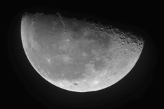 SONY α6500で近赤外の月