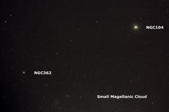 小マゼラン星雲上のNGC104とNGC362