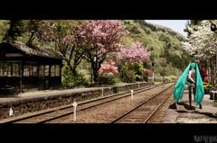 花咲く駅で