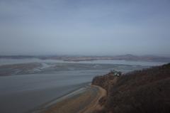 韓国 統一展望台から見た北朝鮮
