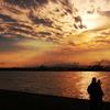 夕暮れの片瀬海岸3