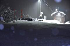 豪雪の薮神駅