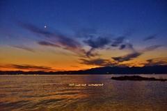 湖東の夕暮れ