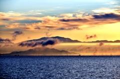 琵琶湖冬朝