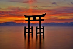 Lake Torii in the morning glow