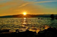 Sunset on Lake Biwa