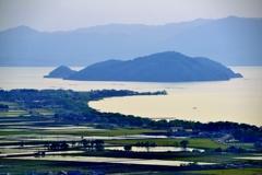 琵琶湖 沖島