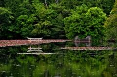 弁天島と沈み鳥居