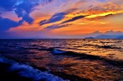 琵琶湖夏至夕景