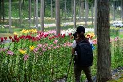 花撮りカメラ女子