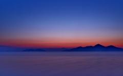 薄明の湖東