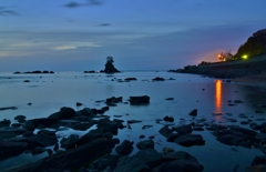夜明けの雨晴海岸