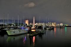 大津港マリーナの夜景