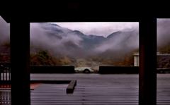 展望のダム光景