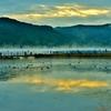 余呉湖の朝 1