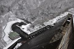 冬の姉川ダム