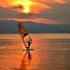 秋夕のウィンドサーフィン