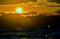秋の夕・琵琶湖