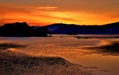 湖北の夏夕焼け