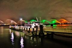 大津港の夜