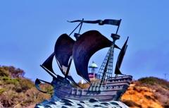 帆船 オブジェクト(カブリヨ国定公園)