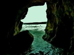 ラホヤコーブの洞窟 Sunny Jim Sea Cave