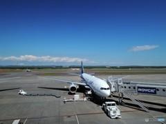 青空の新千歳空港