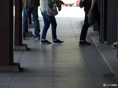 回廊の足跡