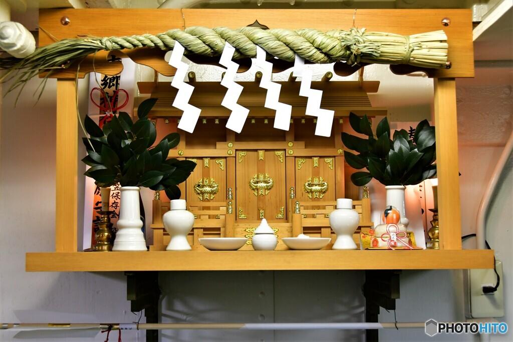 三笠艦内神社の詣