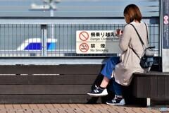 柵乗り越え、禁煙ですけど・・・弁当はOK!です。^^
