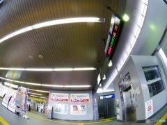 Qちゃんズの冒険・・・友部駅(ここから水戸線・・・うえいてぃんぐ)