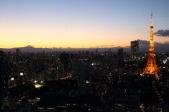 東京の冬には富士がよく見える。