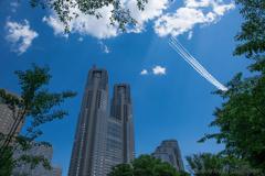 東京の空に不死鳥