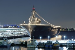 客船ターミナルに現れた巨艦