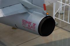 ジェット排気に注意