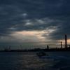 海芝浦駅からの日の出の風景
