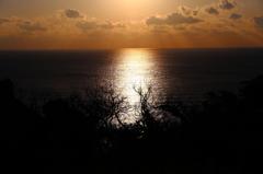 夕陽の航路