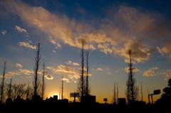 青山二丁目の夕日