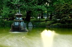 盛夏、鶴の舞。