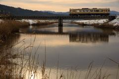 冬の川上谷川橋梁