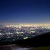 岐阜の夜景と登るオリオン(再現像版)
