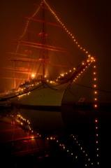 霧のイルミネーション