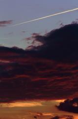 垂れこめた夕焼け雲