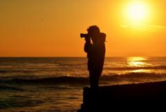 海辺のカメラマン